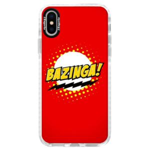 Silikonové pouzdro Bumper iSaprio Bazinga 01 na mobil iPhone X