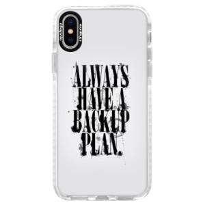 Silikonové pouzdro Bumper iSaprio Backup Plan na mobil iPhone X