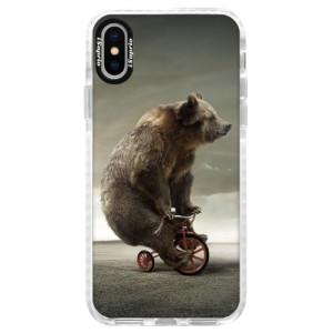 Silikonové pouzdro Bumper iSaprio Bear 01 na mobil Apple iPhone X