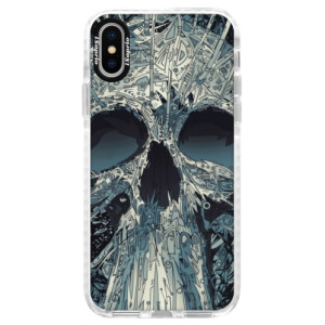 Silikonové pouzdro Bumper iSaprio Abstract Skull na mobil iPhone X
