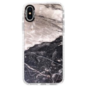 Silikonové pouzdro Bumper iSaprio BW Marble na mobil Apple iPhone X