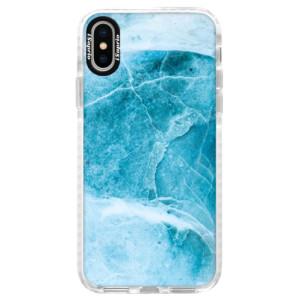 Silikonové pouzdro Bumper iSaprio Blue Marble na mobil Apple iPhone X