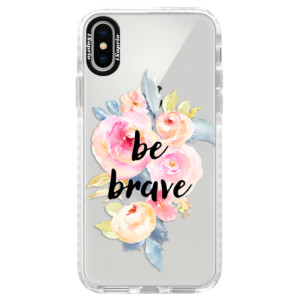 Silikonové pouzdro Bumper iSaprio Be Brave na mobil Apple iPhone X