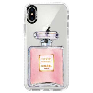 Silikonové pouzdro Bumper iSaprio Chanel Rose na mobil Apple iPhone X