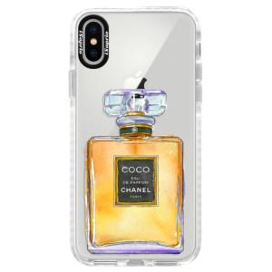 Silikonové pouzdro Bumper iSaprio Chanel Gold na mobil Apple iPhone X