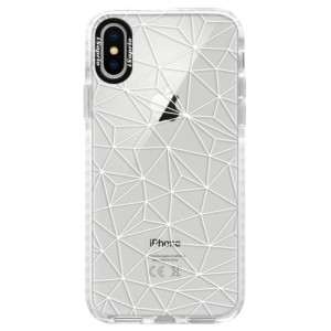 Silikonové pouzdro Bumper iSaprio Abstract Triangles 03 white na mobil Apple iPhone X