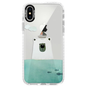 Silikonové pouzdro Bumper iSaprio Bear With Boat na mobil Apple iPhone X