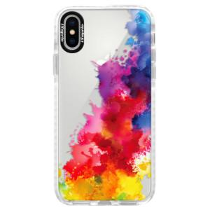 Silikonové pouzdro Bumper iSaprio Color Splash 01 na mobil Apple iPhone X