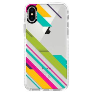 Silikonové pouzdro Bumper iSaprio Color Stripes 03 na mobil Apple iPhone X