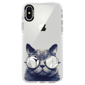 Silikonové pouzdro Bumper iSaprio Crazy Cat 01 na mobil Apple iPhone X
