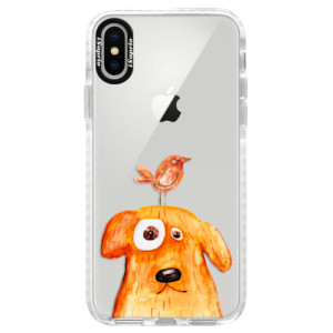 Silikonové pouzdro Bumper iSaprio Dog And Bird na mobil Apple iPhone X