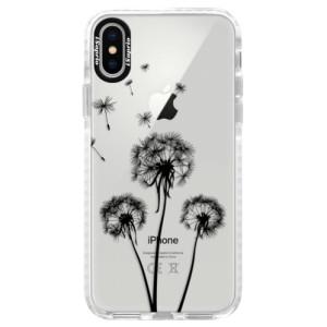 Silikonové pouzdro Bumper iSaprio Three Dandelions black na mobil Apple iPhone X