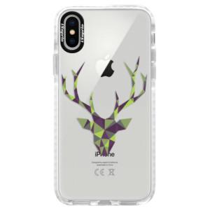 Silikonové pouzdro Bumper iSaprio Deer Green na mobil Apple iPhone X