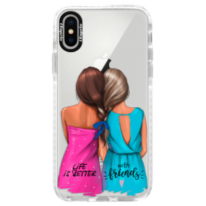 Silikonové pouzdro Bumper iSaprio Best Friends na mobil Apple iPhone X