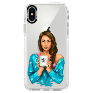 Silikonové pouzdro Bumper iSaprio Coffe Now Brunette na mobil Apple iPhone X