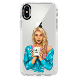 Silikonové pouzdro Bumper iSaprio Coffe Now Blond na mobil Apple iPhone X