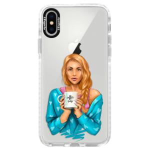 Silikonové pouzdro Bumper iSaprio Coffe Now Redhead na mobil Apple iPhone X