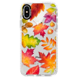 Silikonové pouzdro Bumper iSaprio Autumn Leaves 01 na mobil iPhone X