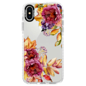 Silikonové pouzdro Bumper iSaprio Fall Flowers na mobil Apple iPhone X
