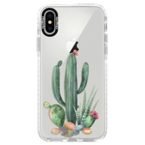 Silikonové pouzdro Bumper iSaprio Cacti 02 na mobil Apple iPhone X