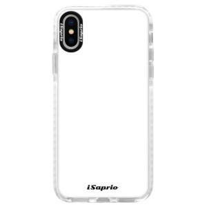 Silikonové pouzdro Bumper iSaprio 4Pure bílé na mobil iPhone X