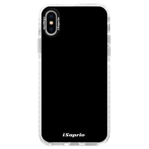 Silikonové pouzdro Bumper iSaprio 4Pure černé na mobil iPhone X