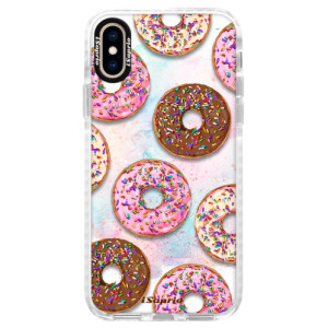 Silikonové pouzdro Bumper iSaprio Donuts 11 na mobil Apple iPhone XS