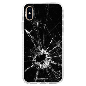 Silikonové pouzdro Bumper iSaprio Broken Glass 10 na mobil Apple iPhone XS