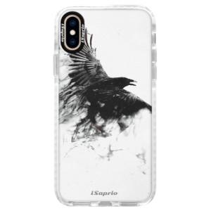 Silikonové pouzdro Bumper iSaprio Dark Bird 01 na mobil Apple iPhone XS
