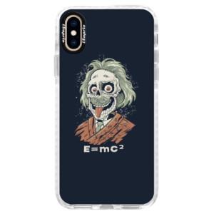 Silikonové pouzdro Bumper iSaprio Einstein 01 na mobil Apple iPhone XS