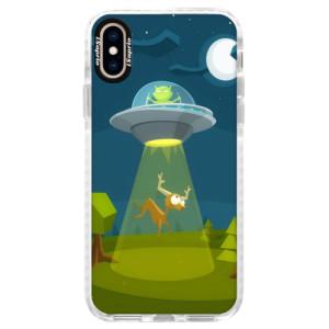 Silikonové pouzdro Bumper iSaprio Alien 01 na mobil iPhone XS