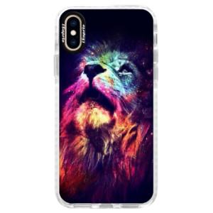 Silikonové pouzdro Bumper iSaprio Lion in Colors na mobil Apple iPhone XS - poslední kousek za tuto cenu