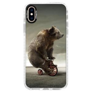Silikonové pouzdro Bumper iSaprio Bear 01 na mobil Apple iPhone XS