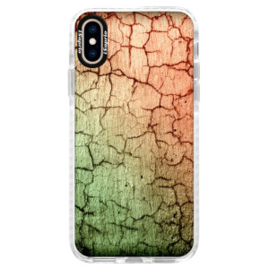 Silikonové pouzdro Bumper iSaprio Cracked Wall 01 na mobil Apple iPhone XS