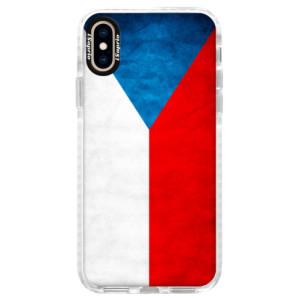 Silikonové pouzdro Bumper iSaprio Czech Flag na mobil Apple iPhone XS