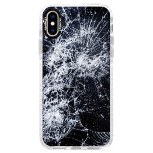 Silikonové pouzdro Bumper iSaprio Cracked na mobil Apple iPhone XS