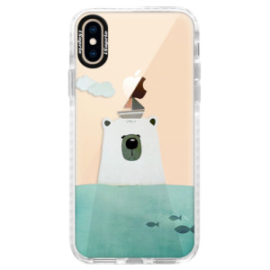 Silikonové pouzdro Bumper iSaprio Bear With Boat na mobil Apple iPhone XS