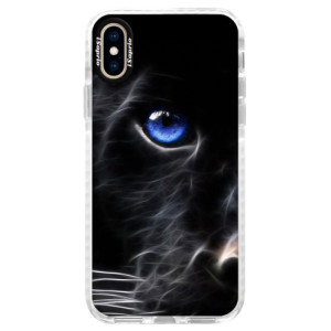 Silikonové pouzdro Bumper iSaprio Black Puma na mobil Apple iPhone XS