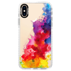 Silikonové pouzdro Bumper iSaprio Color Splash 01 na mobil Apple iPhone XS