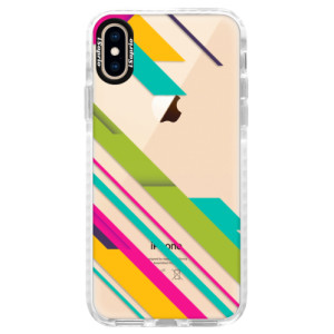 Silikonové pouzdro Bumper iSaprio Color Stripes 03 na mobil Apple iPhone XS