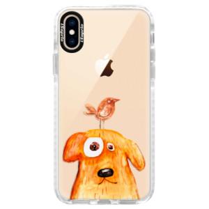 Silikonové pouzdro Bumper iSaprio Dog And Bird na mobil Apple iPhone XS