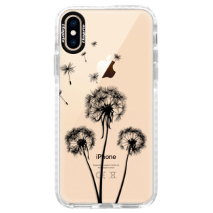 Silikonové pouzdro Bumper iSaprio Three Dandelions black na mobil Apple iPhone XS