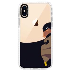 Silikonové pouzdro Bumper iSaprio BaT Comics na mobil iPhone XS