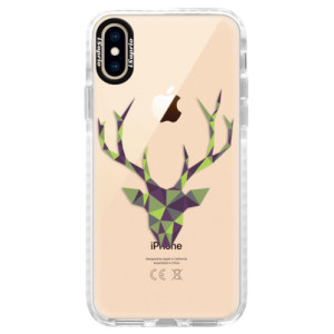 Silikonové pouzdro Bumper iSaprio Deer Green na mobil Apple iPhone XS