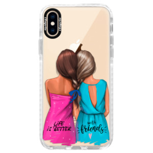 Silikonové pouzdro Bumper iSaprio Best Friends na mobil Apple iPhone XS