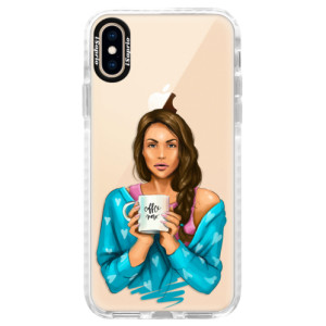 Silikonové pouzdro Bumper iSaprio Coffe Now Brunette na mobil Apple iPhone XS