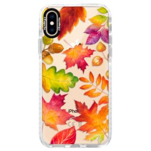 Silikonové pouzdro Bumper iSaprio Autumn Leaves 01 na mobil iPhone XS