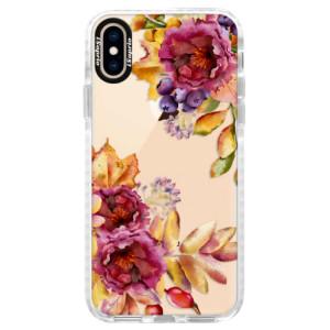 Silikonové pouzdro Bumper iSaprio Fall Flowers na mobil Apple iPhone XS