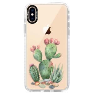 Silikonové pouzdro Bumper iSaprio Cacti 01 na mobil Apple iPhone XS