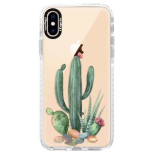 Silikonové pouzdro Bumper iSaprio Cacti 02 na mobil Apple iPhone XS